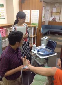 足関節 エコー検査