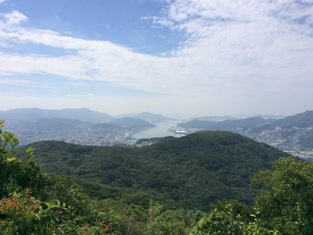 頂上から長崎港