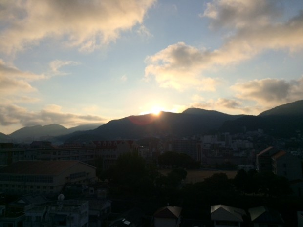 金比羅山からの朝日